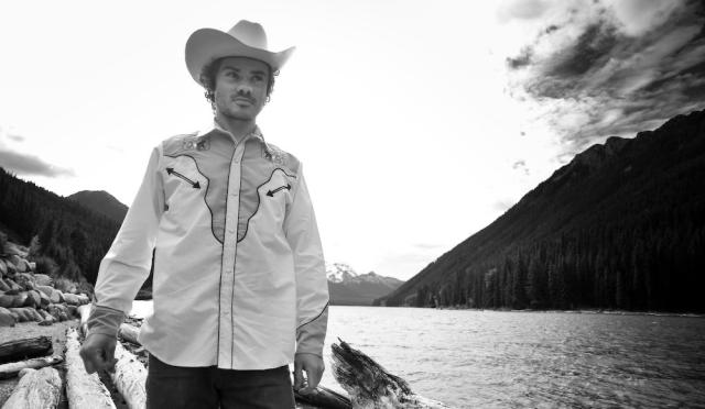 Ben Arsenault - promo photo - black and white